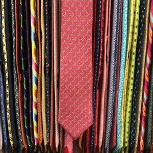 Hermès tie. Horsebits.